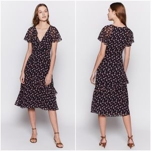 Joie Orita Floral Silk Dress